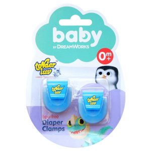 DreamWorks Baby 2 Pieces Diaper Clamps