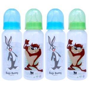 Looney Tunes 9 Ounce Round Shape Feeding Bottle Set of 4