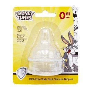 Looney Tunes 2 Pieces Wide Neck Silicone Nipples