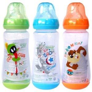 Looney Tunes 12 Ounce Wide Neck Feeding Bottle Set of 3