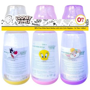 Looney Tunes 15 Ounce Wide Neck Feeding Bottle Set of 3