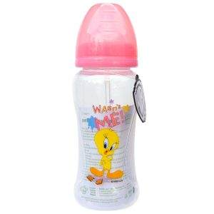 Looney Tunes 10 Ounce Wide Neck Feeding Bottle with Straw