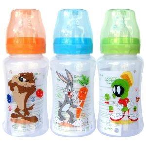 Looney Tunes 10 Ounce Wide Neck Feeding Bottle Set of 3
