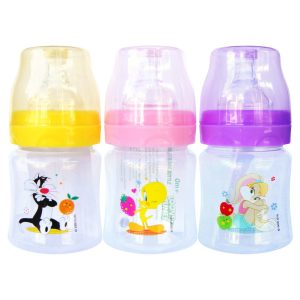 Looney Tunes 4 Ounce Wide Neck Feeding Bottle Set of 3