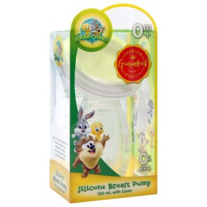 Looney Tunes Silicone Breast Pump 100ml With Cover